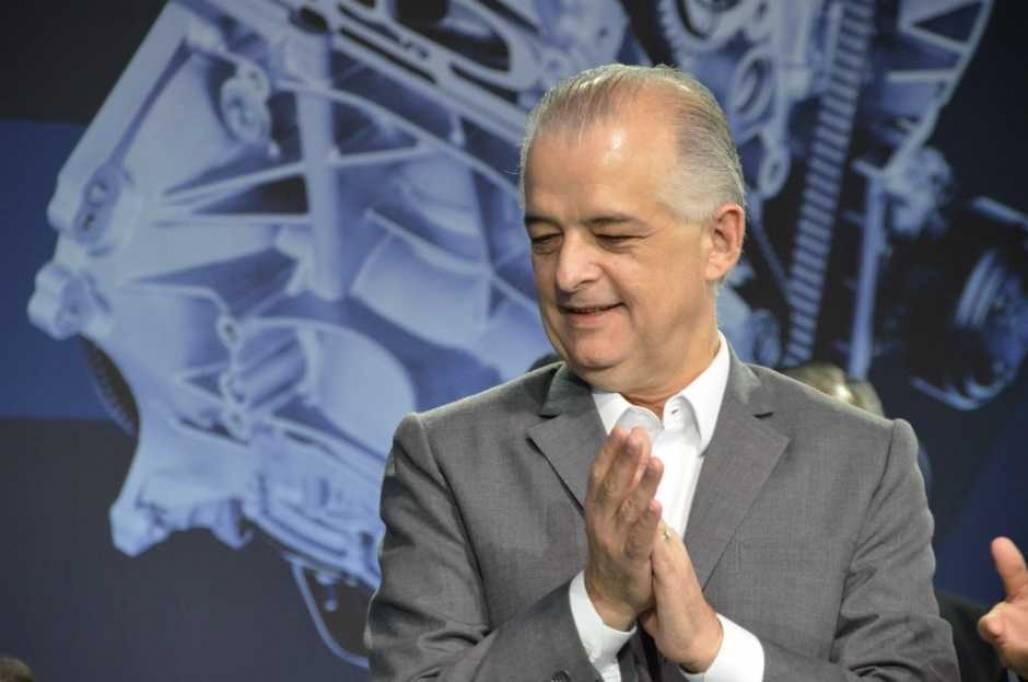 Marcio França (PSB) durante a cerimônia de aniversário dos 50 anos da Ford Taubaté (Marcus Alvarenga/Meon)