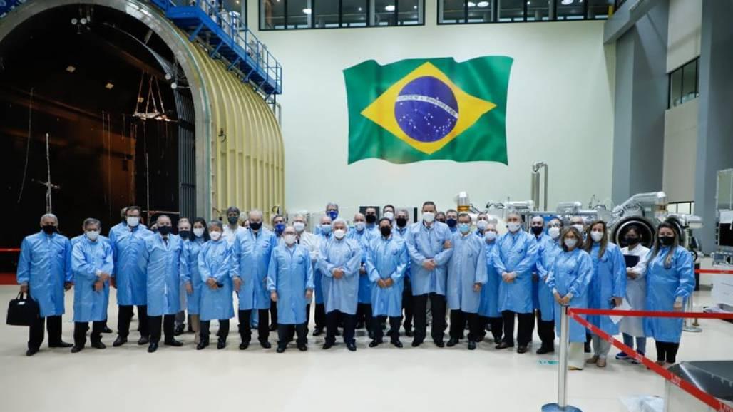 Visita de Mourão e Marcos Pontes ao Inpe (Leonardo Marques - ASCOM/MCTI)