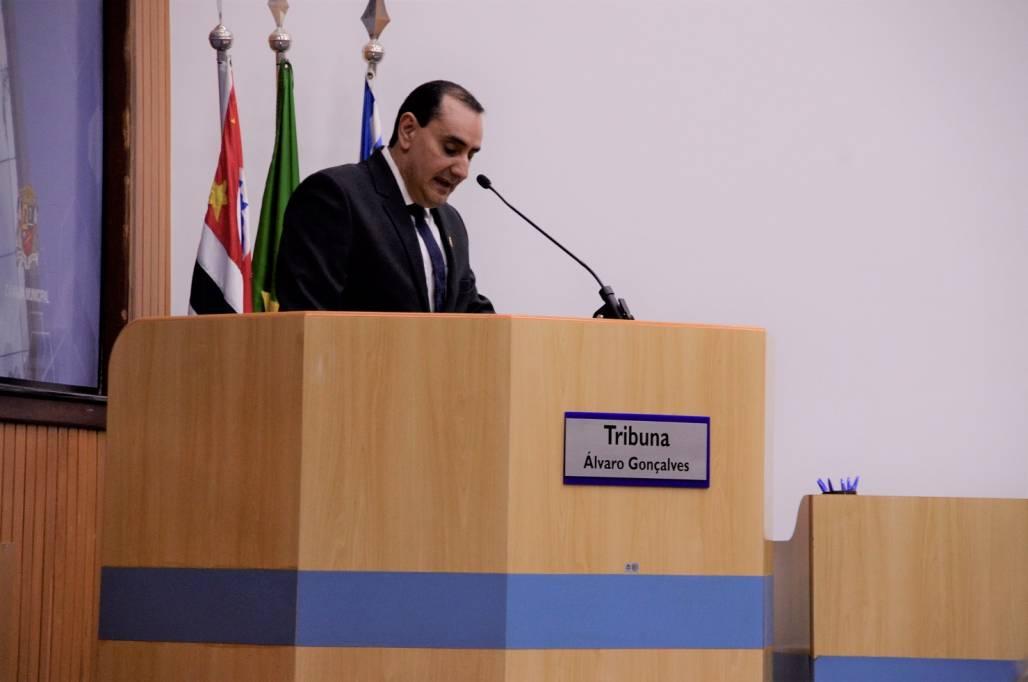 Vice-prefeito Anderson Farias discurso de posse - Samuel Strazzer Meon (Samuel Strazzer / Meon)
