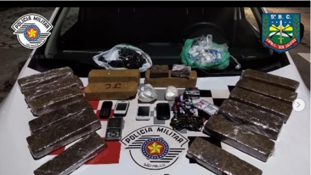 Tráfico de drogas em Taubaté (Divulgação/PMT)