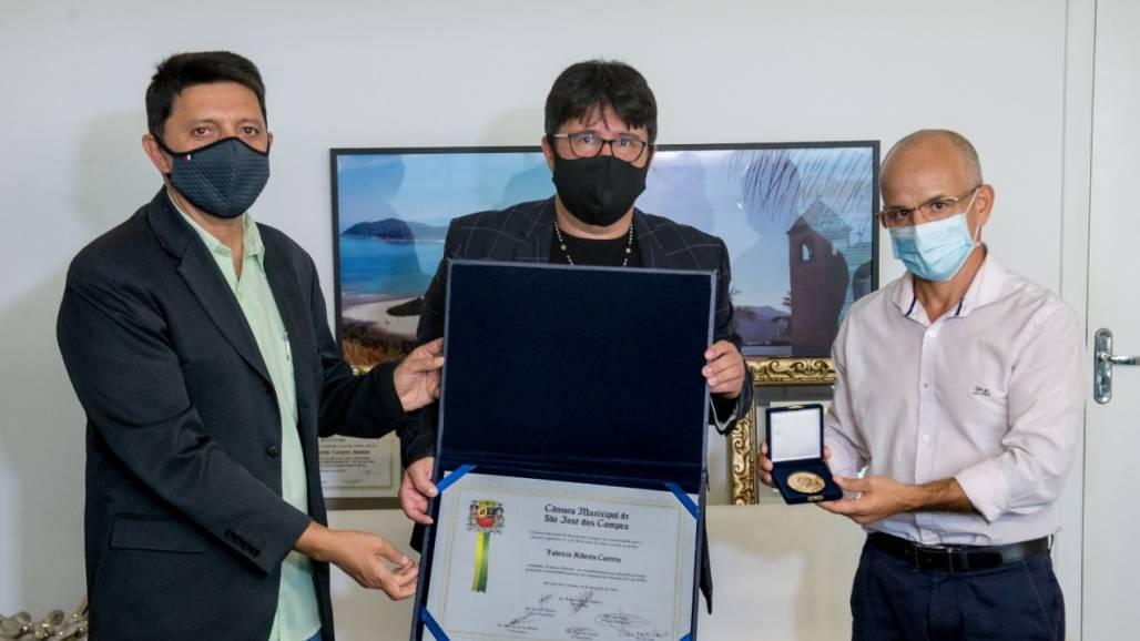 Medalha Cassiano Ricardo (Foto: Cleverson Nunes/CMSJC)
