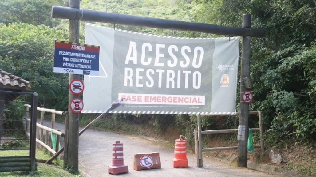 entrada restrita morro santo antonio (Foto: Divulgação/ PMC)