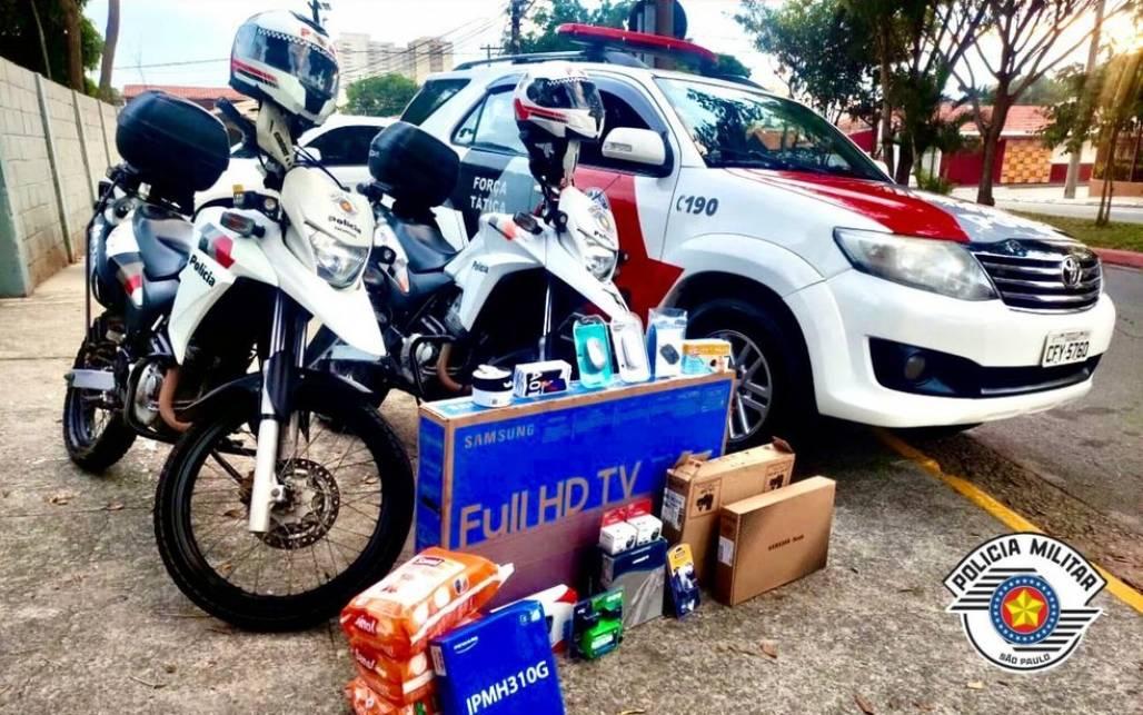 produtos roubados em sjc (Foto: Divulgação/Polícia Militar)