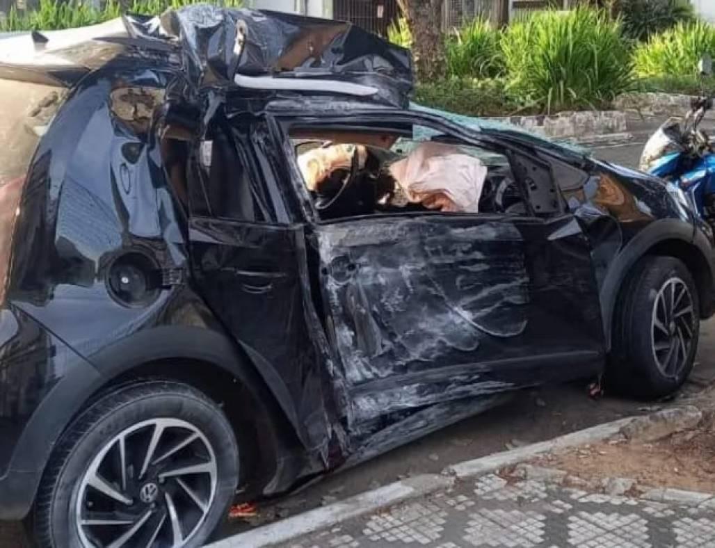 Acidente de carro em Taubaté - Arquivo pessoal (Arquivo Pessoal)