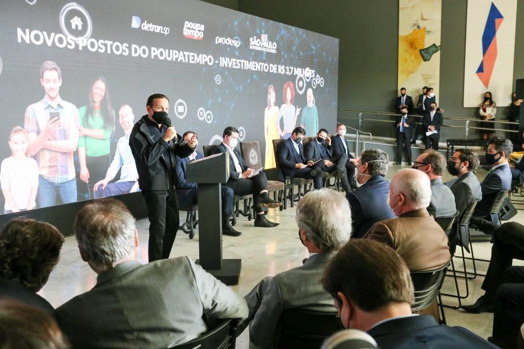 Doria anuncia novas unidades do poupatempo (Divulgação / Governo de SP)