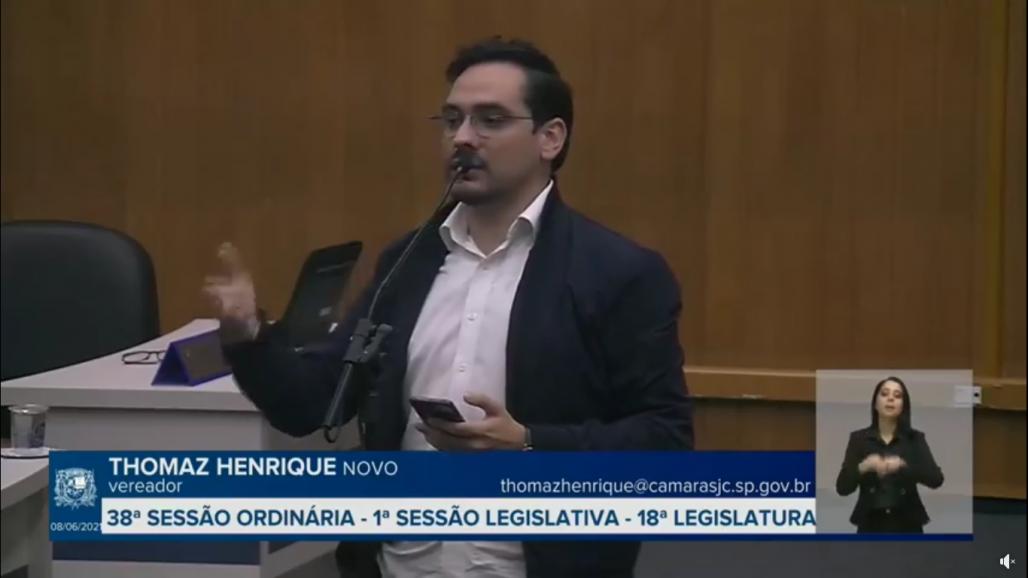 Thomaz Henrique vereador SJC 1 (Reprodução / Redes Sociais)