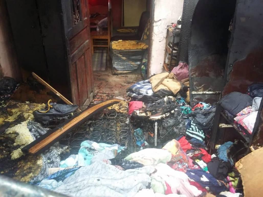 incendio casa do idoso 1 (Foto: Divulgação/Corpo de Bombeiros)