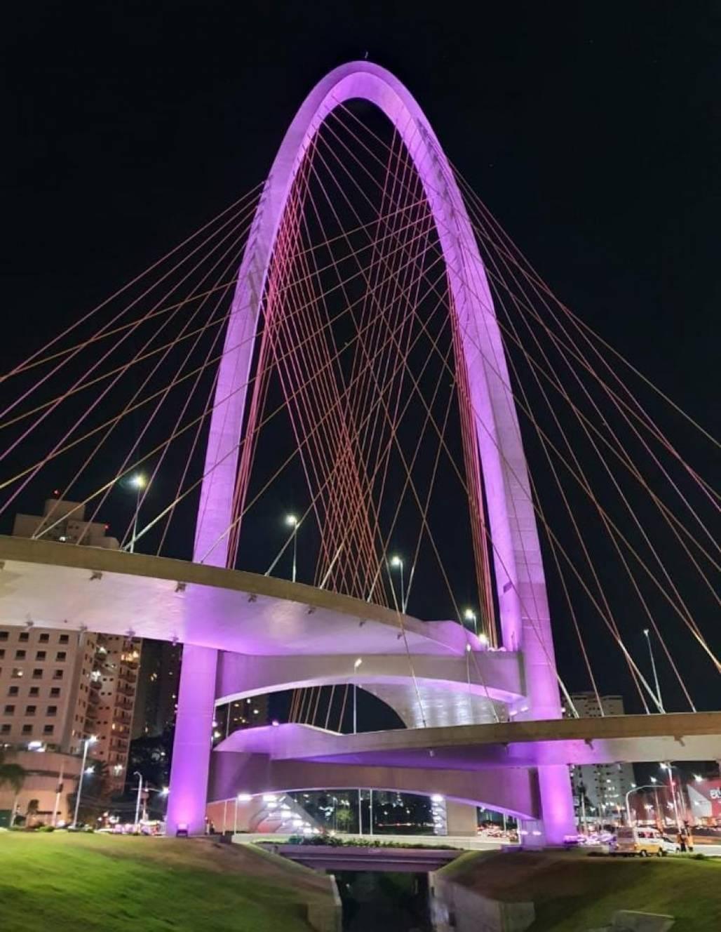 arco inovação junho violeta (Gisele Lopes/PMSJC)