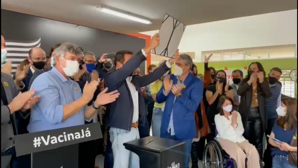 João Doria em Taubaté anunciando AME (2) (Reprodução / Redes Sociais)