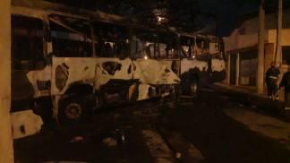 Ônibus incendiado - Divulgação e Polícia Civil
