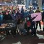 Movimento negro realiza protesto contra trabalho escravo no Arco da Inovação em São José
