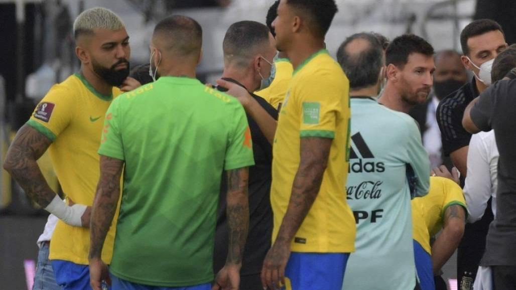 jogo cancelado Brasil x Argentina - Reprodução Globo (Reprodução / Globo)