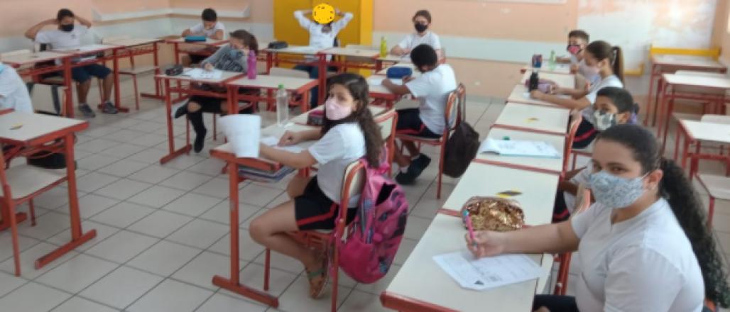 Volta as aulas (Arquivo pessoal:  Professora Maria Bernadete Teixeira Luglio)