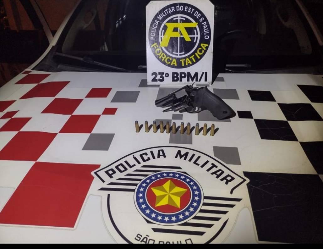 Polícia Militar prende infrator com porte ilegal de arma de fogo em Aparecida (Notícias PM / RM Vale)
