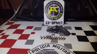 Polícia Militar prende infrator com porte ilegal de arma de fogo em Aparecida