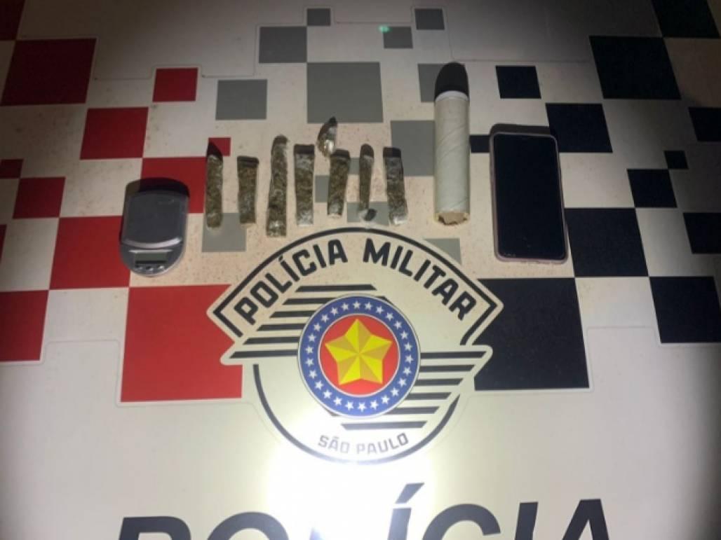 Jovem traficante do pix (Polícia Militar / Divulgação)