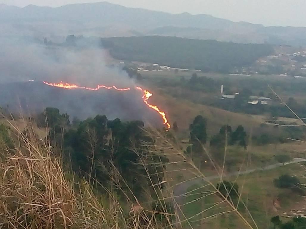 incendio no parque do itaim (Divulgação/Defesa Civil de Taubaté)